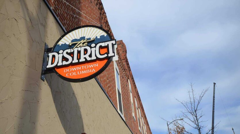 the-district-sign